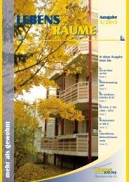 Ausgabe 3/2013 - LebensRäume Hoyerswerda eG