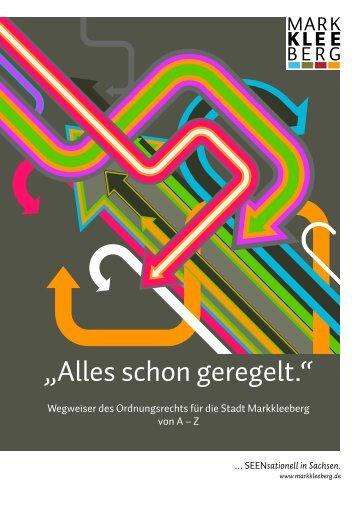 """""""Alles schon geregelt."""" - Stadt Markkleeberg"""