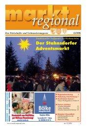 Der Stahnsdorfer Adventsmarkt - markt regional