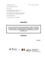 Projet SAICM EVALUATION DES CAPACITES POUR LA ... - UNITAR