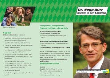 Dr. Sepp Dürr wieder in den Landtag