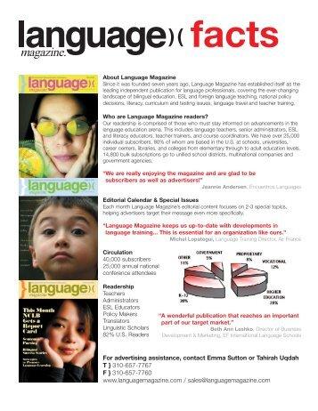 Advertising Rates 2005 - Language Magazine