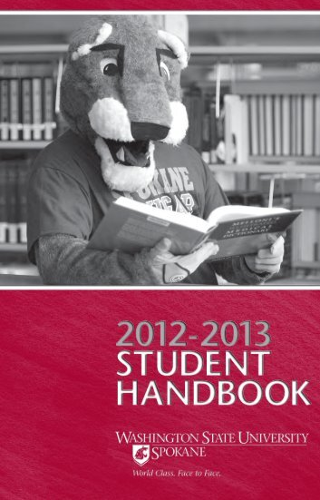 2012-13 Student Handbook - Washington State University at Spokane