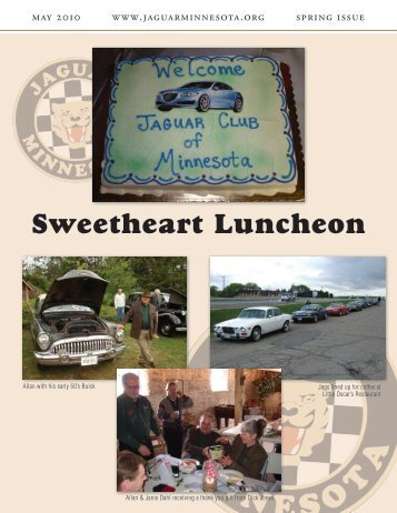 Spring Quarter Newsletter - May, 2010 - Jaguar Club of Minnesota