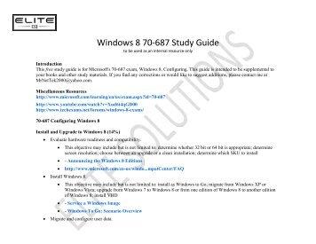Windows 8 70-687 Study Guide - Eddie Jackson