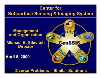 Organization and Management 04-05 - CenSSIS
