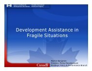Development Assistance and Fragile States ... - Www3.carleton.ca