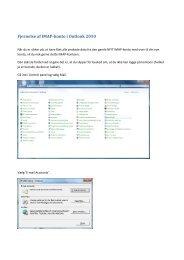 Fjernelse af IMAP-konto i Outlook 2010