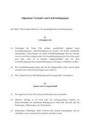 Allgemeine Geschäftsbedingungen - Elbe Holding GmbH & Co. KG