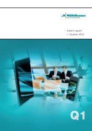 Download Quarterly Report Q1/2013 - Mühlbauer Group