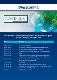 Westcon Continuum Agenda Riyadh - Westcon Group