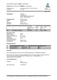GUTACHTEN zur ABE Nr. 46560 nach §22 StVZO Anlage 20 zum ...