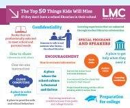 The Top 50Things kids Will Miss If they don't have a school librarian ...