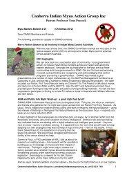 Bulletin #25, 23 December 2012 - Canberra Indian Myna Action ...