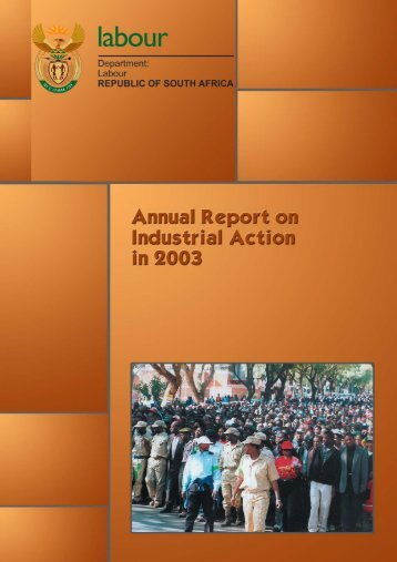 Industrial Action Annual Report 2003 - Department of Labour