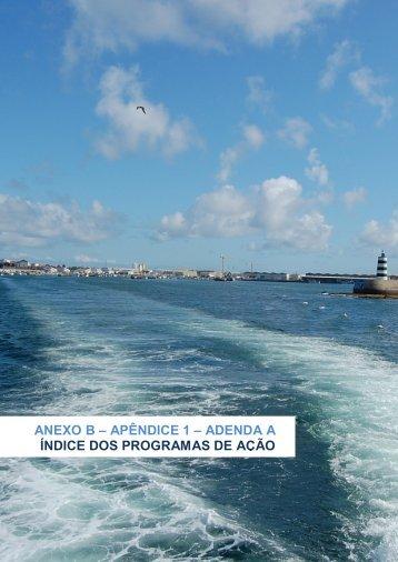 ANEXO B – APÊNDICE 1 – ADENDA A ÍNDICE DOS ... - Ciência Viva