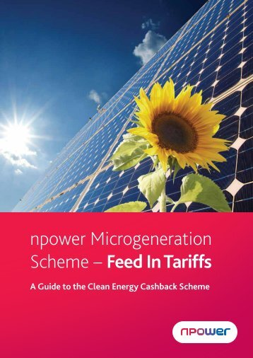 npower Microgeneration Scheme – Feed In Tariffs