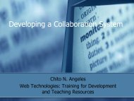 Developing a Collaboration System
