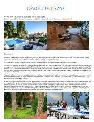 Villa Flora, Mlini, Dubrovnik Riviera - CroatiaGems