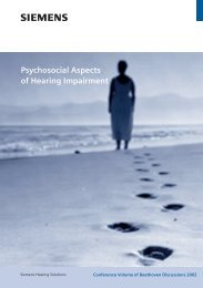 Psychosocial Aspects of Hearing Impairment - Siemens Hearing ...