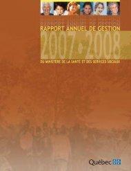 Rapport annuel de gestion 2007-2008 du ministère de la Santé et ...