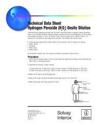 Technical Data Sheet Hydrogen Peroxide (HO ) - Stone Food ...