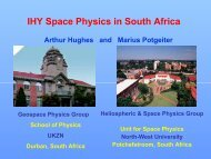 IHY Space Physics in South Africa - Indian Institute of Astrophysics