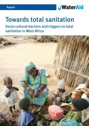 socio-cultural barriers and triggers to total sanitation in ... - WaterAid