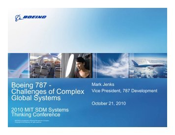 Boeing 787 - Challenges of Complex Global Systems - MIT SDM