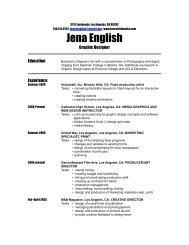 Download Resume - Lovechild Media