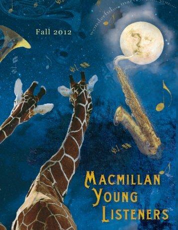 Fall 2012 Macmillan Young Listeners Frontlist ... - Raincoast Books