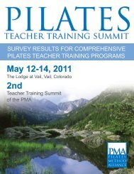 2011 Survey Results for Comprehensive Pilates Teacher Training ...