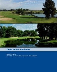 Copa de las Américas - USGA
