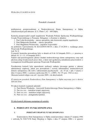 BIP - ŚDS Dąbie - Biuletyn Informacji Publicznej, Wielkopolski Urząd ...