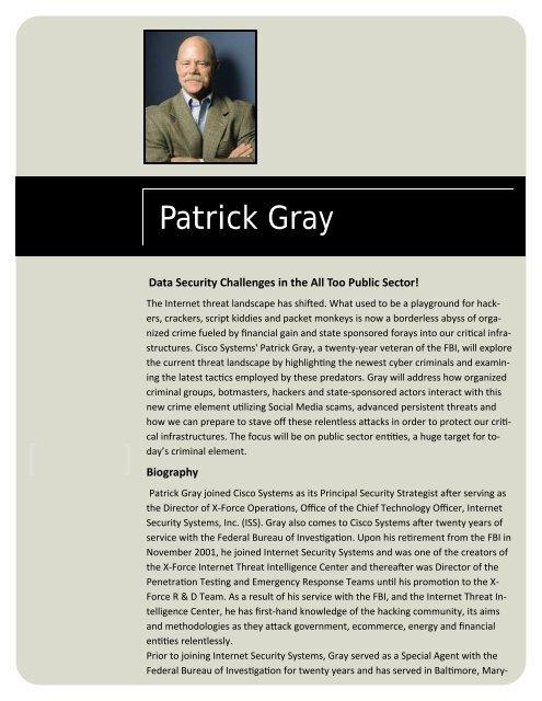 Speaker's Biography