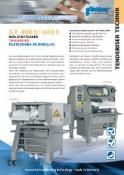 GT 400S/600S - Stone Food Machinery
