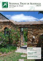 Heritage in Trust - May 2012 - National Trust of Australia