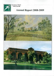Annual Report 2008 - National Trust of Australia