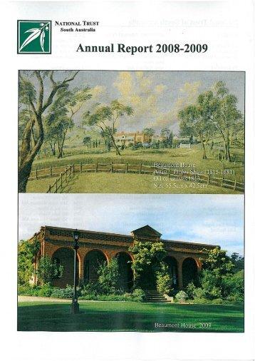 Annual Report 2008 - National Trust of Australia