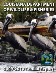 2009-2010 Annual Report - Louisiana Department of Wildlife and ...