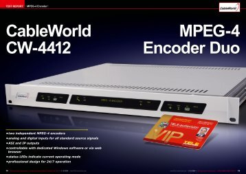 CableWorld CW-4412 MPEG-4 Encoder Duo