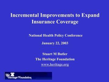 Stuart Butler, Heritage Foundation - AcademyHealth