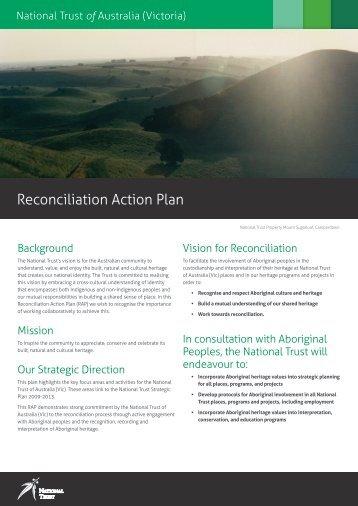Reconciliation Action Plan - National Trust of Australia