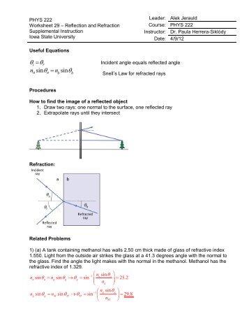 reflection refraction worksheet the best and most comprehensive worksheets. Black Bedroom Furniture Sets. Home Design Ideas