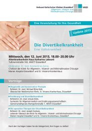 Programm-Faltblatt - Verbund Katholischer Kliniken Düsseldorf
