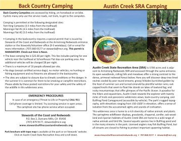 Camping Information Brochure with campsite map - Stewards of the ...