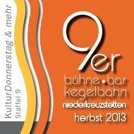 herbst 2013 - 9er Bar