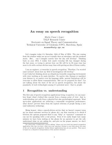 """speech recognition essay Method of lsa to score essays effectively when the dataset is massive   include """"automated essay scoring"""" and """"speech recognition"""" shudong hao  was."""