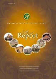 Annual Report 2009–2010 - National Trust of Australia