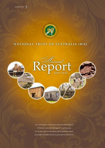 Annual Report 2009–2010 - National Trust of Australia